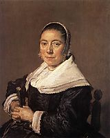 Portrait of a Seated Woman, 1650, hals
