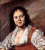 Portrait of a woman, known as The Gipsy girl, 1629, hals