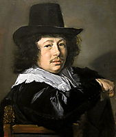 Portrait of a Young Man, 1648, hals