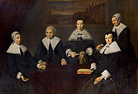 The Regentesses of the Old Men-s Almhouse, Haarlem , 1664, hals
