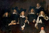 Regents of the Old Men-s Alms House, Haarlem, 1664, hals