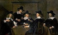 Regents of the St. Elisabeth-s Hospital, Haarlem, 1641, hals