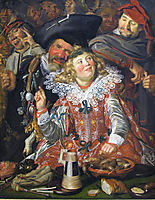 Shrovetide Revellers (The Merry Company) , c.1615, hals