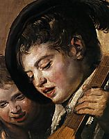 Two Boys Singing (detail), c.1625, hals