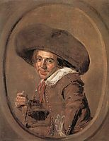 A Young Man in a Large Hat, hals