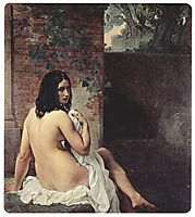 Back view of a bather, 1859, hayez