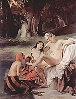 Bathing Bathsheba, 1834, hayez