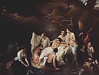 Bathing nymphs, 1831, hayez