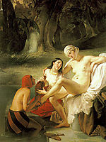 Bathsheba at Her Bath, 1834, hayez