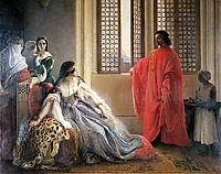 Caterina Cornaro Deposed from the Throne of Cyprus, 1842, hayez