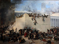 Destruction of the Temple of Jerusalem , 1867, hayez