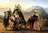 Jacob and Esau, 1844, hayez