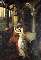 The Last Kiss of Romeo and Juliet, 1823, hayez