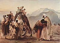 Meeting of Jacob and Esau, 1844, hayez