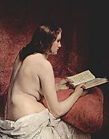Odalisque with Book, 1866, hayez