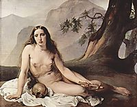 Penitent Mary Magdalene, 1825, hayez