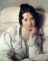 Portrait of Carolina Zucchi, 1825, hayez