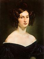 Portrait of Countess Luigia Douglas Scotti d-Adda, 1830, hayez