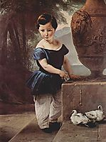 Portrait of Don Giulio Vigoni as a child, hayez