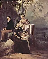 Portrait of  Familie Stampa di Soncino, c.1822, hayez