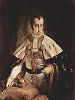 Portrait of Ferdinand I of Austria, 1840, hayez