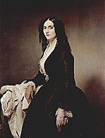 Portrait of Matilde Juva Branca, 1851, hayez