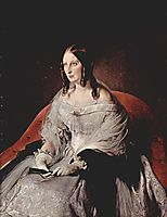Portrait of Princess Di Sant -Antimo, c.1842, hayez