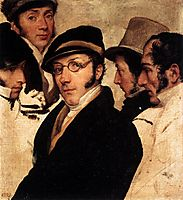 Self Portrait in a Group of Friends, c.1825, hayez