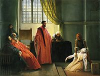 Valenza Gradenigo before the Inquisitor, hayez