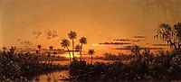 Florida River Scene: Early Evening, After Sunset, 1900, heade