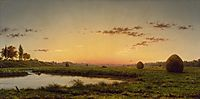 Haystacks on the Newburyport Marshes, 1862, heade