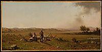 Hunters Resting, 1863, heade