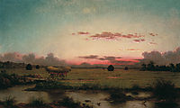 The Marshes at Rhode Island, 1866, heade