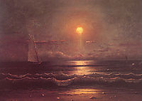 Sailing by Moonlight, 1860, heade