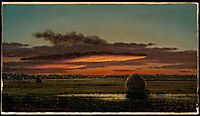 Sunset Over the Marshes, 1904, heade