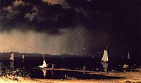 Thunderstorm on Narragansett Bay, 1868, heade