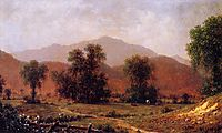 White Mountain Landscape, Mount Washington, 1871, heade