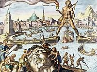 Colossus of Rhodes, heemskerck