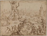 Colossus of Rhodes, 1570, heemskerck