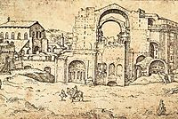 Construction of the new St Peter-s Basilica in Rome, 1536, heemskerck