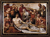 Lamentation on the Dead Christ, 1566, heemskerck