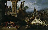 Landscape with St. Jerome, 1547, heemskerck
