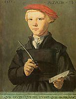 Portrait of a young scholar, 1531, heemskerck
