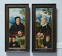 Portraits of donors, c.1560, heemskerck
