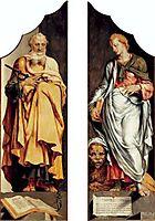 The prophets Ezekiel and Daniel, 1560, heemskerck