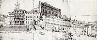 Rome, old Saint Peter-s Basilica and the Vatican Palace, c.1535, heemskerck