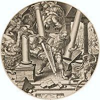 Samson Destroying the Temple of the Philistines, heemskerck