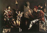 St Luke Painting the Virgin and Child, 1532, heemskerck