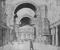 St Peter-s Basilica seen from east, 1535, heemskerck
