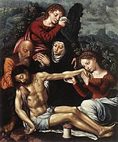 The Lamentation of Christ, hemessen